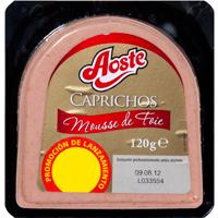 Caprichos de mousse de foie AOSTE, blister 120 g