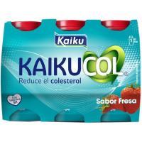 Benecol para beber de fresa KAIKUCOL, pack 6x65 ml