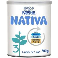 Leche de crecimiento NESTLÉ Nativa 3, lata 800 g