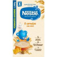 Papilla de 8 cereales con miel NESTLÉ, caja 1,2 kg