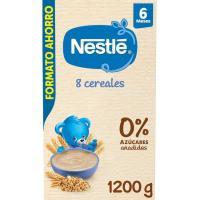 Papilla de 8 cereales con bífidus NESTLÉ, caja 1,2 kg