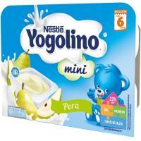 Yogolino mini de pera NESTLÉ, pack 6x60 g