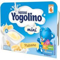 Yogolino mini de plátano NESTLÉ, pack 6x60 g