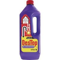 Limpiador desatascador gel sosa DESTOP, garrafa 1 litro