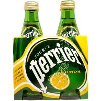 Agua con gas PERRIER, pack 4x33 cl