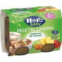Potito de ternera a la jardinera HERO R. Casera, pack 2x190 g