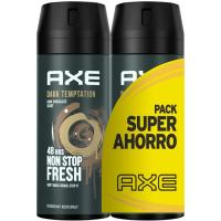 Desodorante para hombre Dark Temptation AXE, pack 2x150 ml