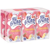 Bifrutas Zero de fresa-plátano PASCUAL, pack 6x200 ml