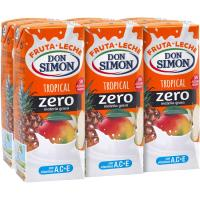 Lactozumo Tropical DON SIMÓN, pack 6x200 ml