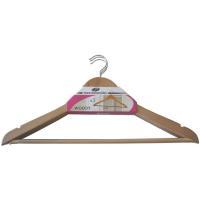 Percha de madera con barra, MONDEX, 3 uds.