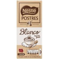 Chocolate blanco para postres NESTLÈ, tableta 180 g
