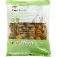 Aceitunas verdes con hueso EROSKI basic, pack 3x100 g