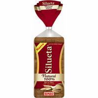Pan de molde integral 100% natural SILUETA, paquete 450 g