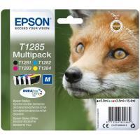 Pack de cartuchos de tinta original, 4 colores T1285 EPSON, 1 ud