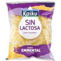 Queso rallado Emmental sin lactosa KAIKU, bolsa 100 g