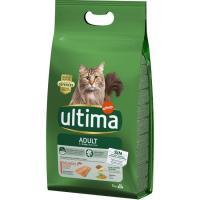 Alimento de salmón-arroz gato adulto ULTIMA, saco 3 kg