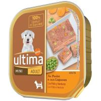 Alimento pollo-verdura perro mini adulto ULTIMA, tarrina 150 g
