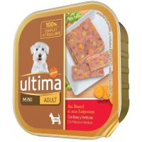 Alimento de buey-verdura perro mini adulto ULTIMA, tarrina 150 g