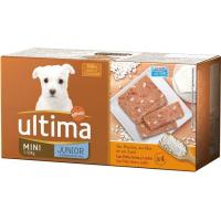 Alimento de pollo-arroz perro mini junior ULTIMA, pack 4x150 g