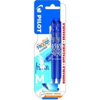 Bolígrafo retráctil borrable color azul, punta 0.7mm Frixion Clicker PILOT, 2uds