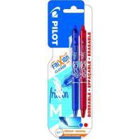 Bolígrafo retráctil borrable azul y rojo punta 0.7mm Frixion Clicker PILOT, 2uds