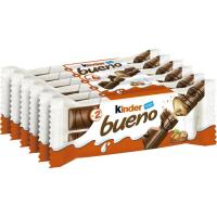 Barrita de chocolate KINDER Bueno, pack 6x43 g