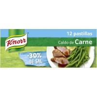 Caldo suave de carne-verdura 12P KNORR, caja 120 g