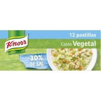 Caldo suave de verduras KNORR, 12 pastillas, caja 120 g