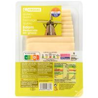 Queso Edam reducido en grasa EROSKI, lonchas, bandeja 200 g