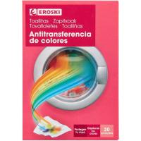 Toallitas antitransferente color EROSKI, caja 20 unid.