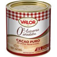 Cacao puro VALOR, lata 250 g