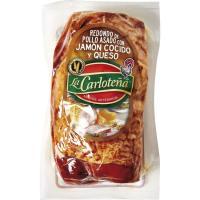 Redondo pollo asado con jamón-queso LA CARLOTEÑA, 1 unid, 340 g