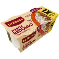 Vasitos de arroz redondo XL BRILLANTE, pack 2x200 g