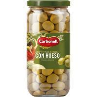 Aceitunas de manzanilla enteras CARBONELL, frasco 400 g