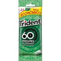 Chicle de hierbabuena TRIDENT 60 Minutos, pack 3x20 g