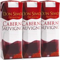 Vino Tinto Cabernet Sauvignon DON SIMON, pack 3x25 cl