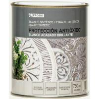 Esmalte sintético antioxidante blanco brillo EROSKI, 750ml