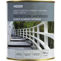 Esmalte sintético antioxidante blanco satinado EROSKI, 750ml