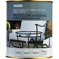 Esmalte sintético antioxidande negro brillo EROSKI, 750ml