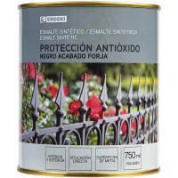 Esmalte sintético antioxidande negro forja EROSKI, 750ml
