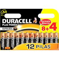Pila alcalina AA+ Power DURACELL, pack 8+4 unid.