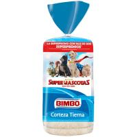Pan de molde blanco corteza tierna BIMBO, paquete 460 g