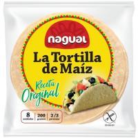 Tortilla mexicana de maíz sin gluten NAGUAL, paquete 200 g