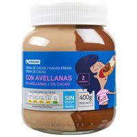 Crema de cacao 2 sabores EROSKI, bote 400 g