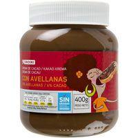 Crema de cacao 1 sabor EROSKI, bote 400 g