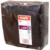 Servilletas negras 2 capas 33x33 NUPIK, paquete 50 unid.