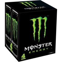 Bebida energética MONSTER GREEN, pack 4x50 cl