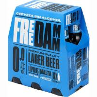 Cerveza sin alcohol FREE DAMM, pack 6x25 cl