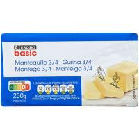 Mantequilla EROSKI basic, bloque 250 g