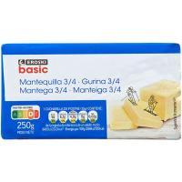 Mantequilla EROSKI basic, pastilla 250 g